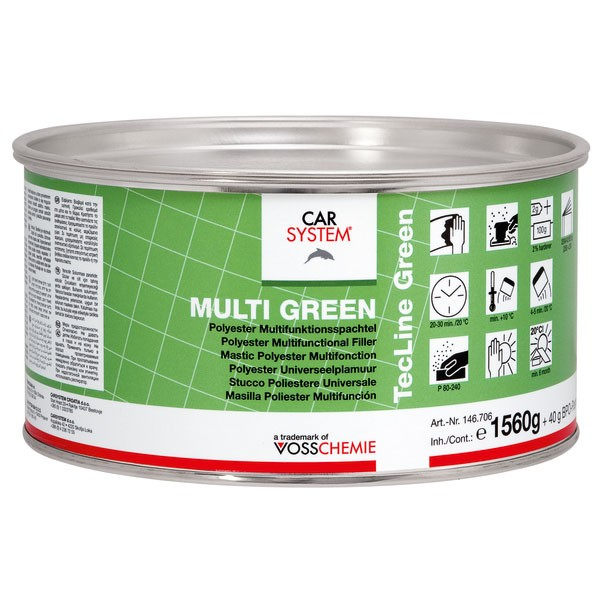 Carsystem Multi Green Multifunktionsspachtel