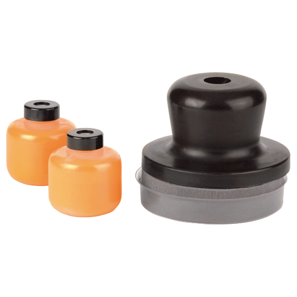 Dry Coat orange - Pad inkl. 2x 30g Kontrollpulver im Set - Autolack Lackprofi24