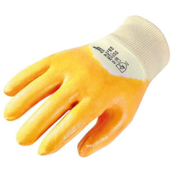 Nitril Schutzhandschuh gelb