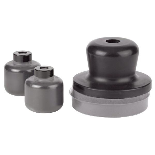 Dry Coat schwarz - Pad inkl. 2x 30g Kontrollpulver im Set - Autolack Lackprofi24
