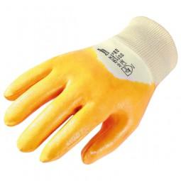 Schutzhandschuh Nitril gelb